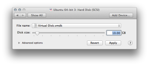 Set virtual machine disk size to desired  value