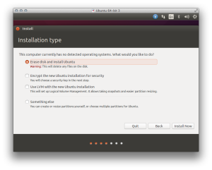 Select 'Erase disk and install Ubuntu'