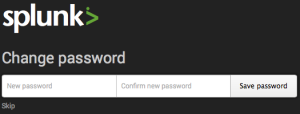 Change default password in Splunk Web